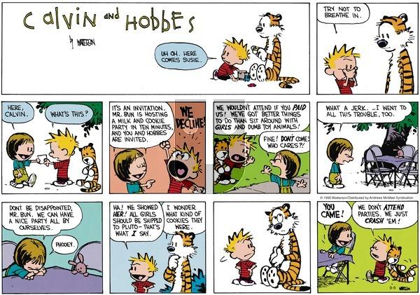 Calvin and Hobbes - Sunday September 6, 2020 Comic Strip