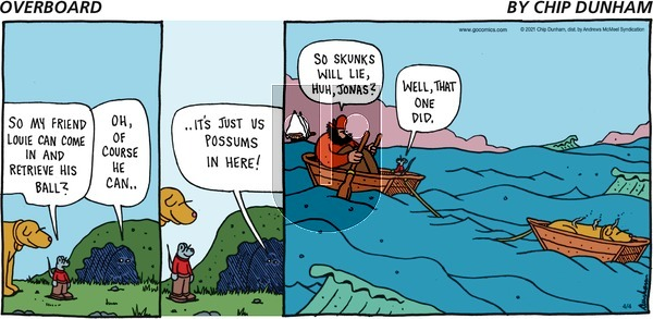 Overboard on Sunday April 4, 2021 Comic Strip