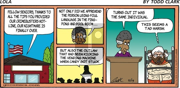 Lola on Sunday April 19, 2020 Comic Strip