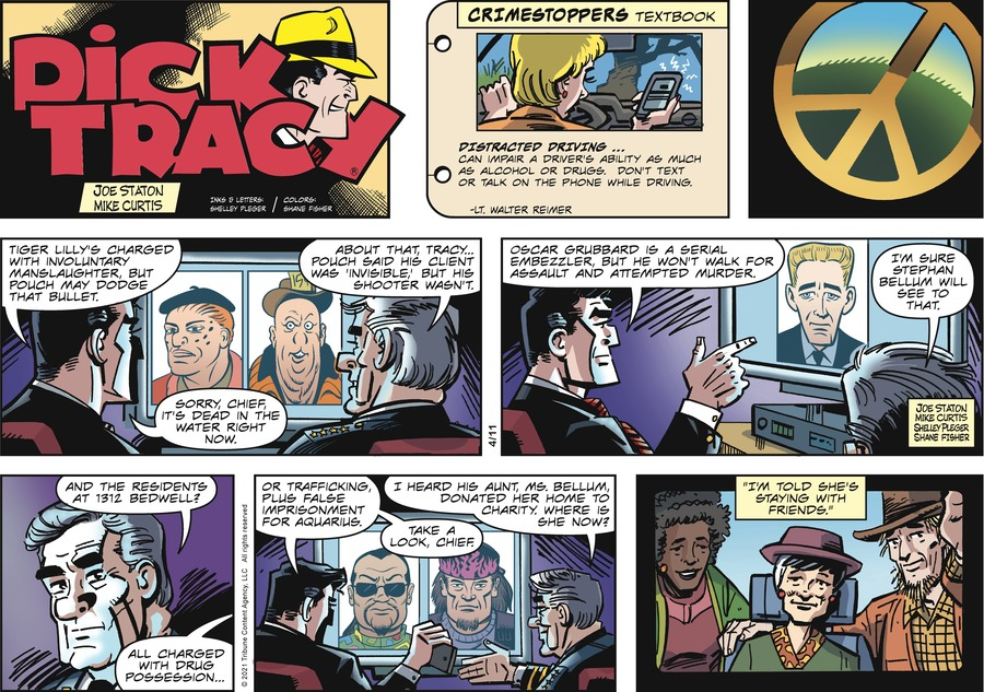Dick Tracy Comic Strip for April 11, 2021