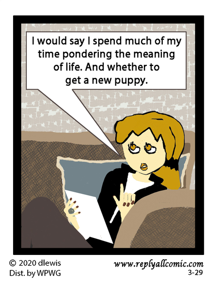 Reply All Lite Comic Strip for March 29, 2020