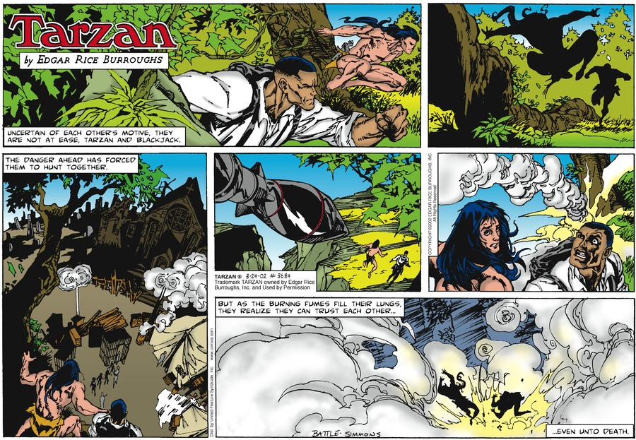 Tarzan Comic Strip for March 24, 2002