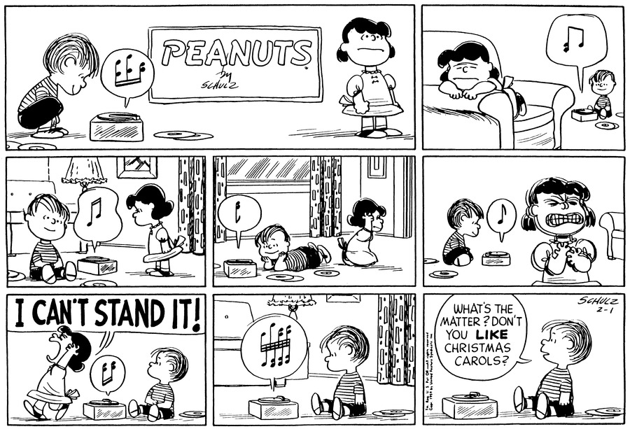 Peanuts Comic Strip for February 01, 1959