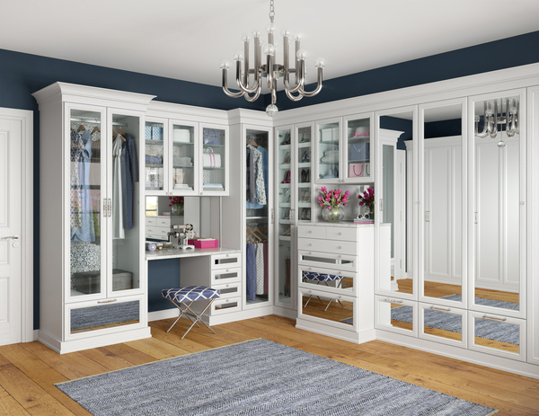 While the master bathroom is becoming more spa-like, the master closet is becoming the place for the makeup vanity. After the homeowner is perfectly coiffed, it's easy to accessorize with jewelry, clothing and accessories stored nearby.