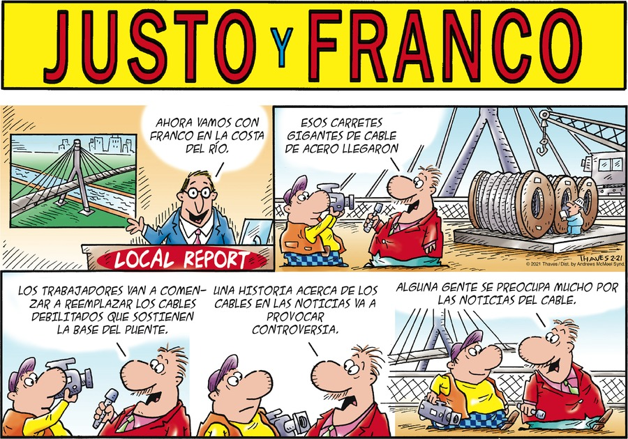 Justo y Franco Comic Strip for February 21, 2021