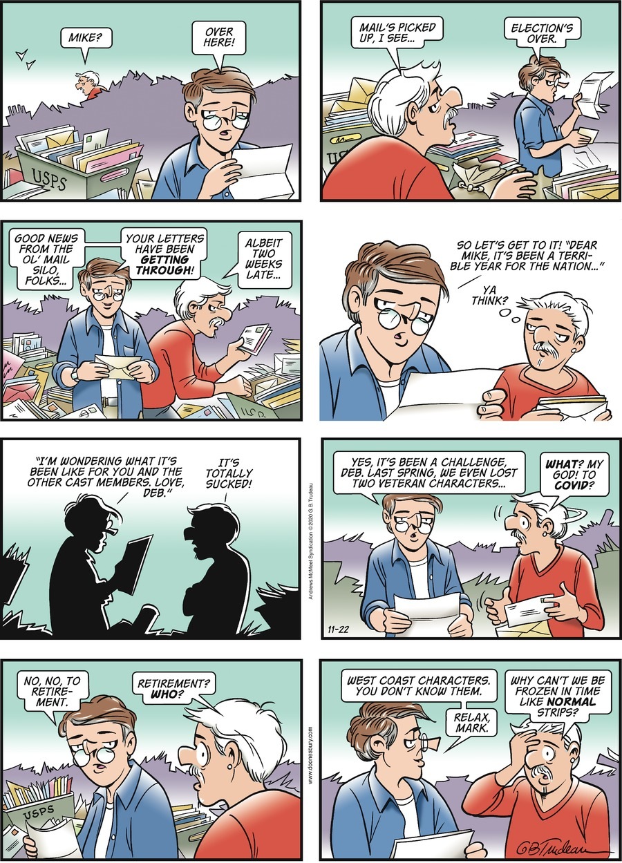 Doonesbury Comic Strip for November 22, 2020