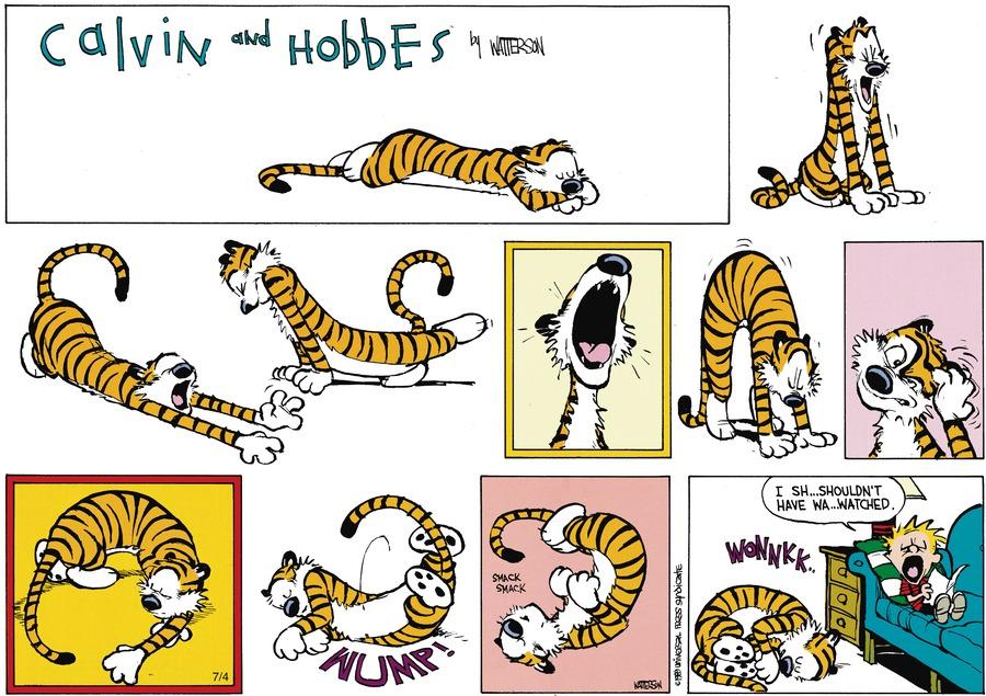 Calvin:  I sh...shouldn't have wa..watched.