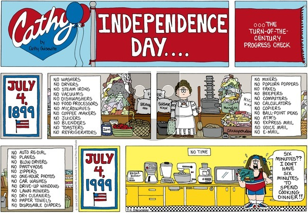 Cathy Classics on Sunday July 4, 1999 Comic Strip