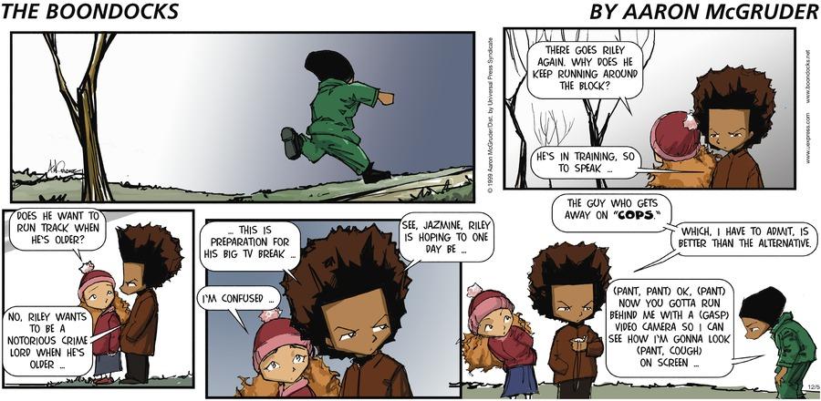The Boondocks for Dec 5, 1999 Comic Strip