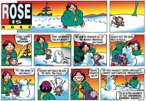 Rose is Rose on Sunday January 25, 2015 Comic Strip