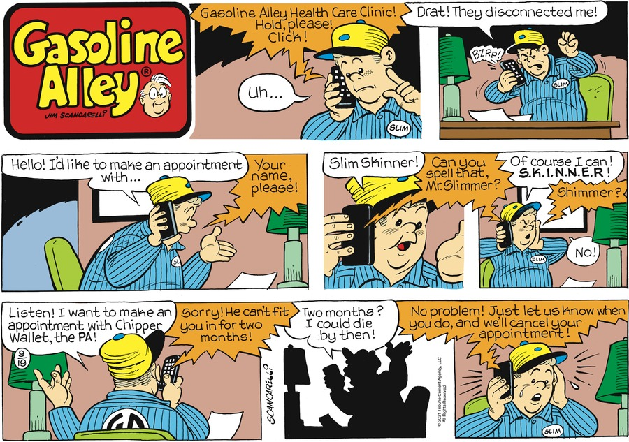 Gasoline Alley Comic Strip for September 19, 2021
