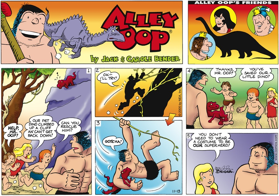 Alley Oop for Nov 13, 2005 Comic Strip