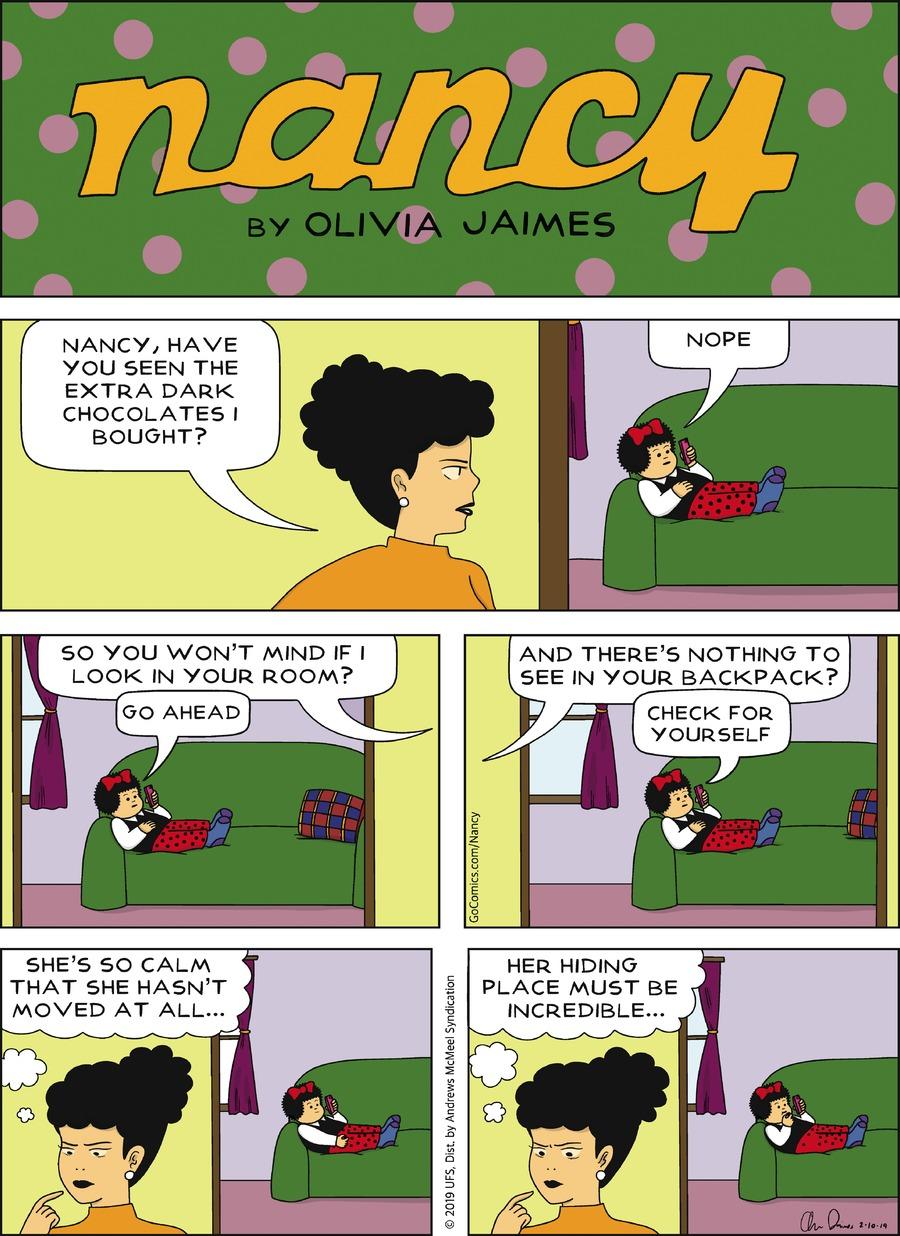 Nancy Comic Strip for February 10, 2019