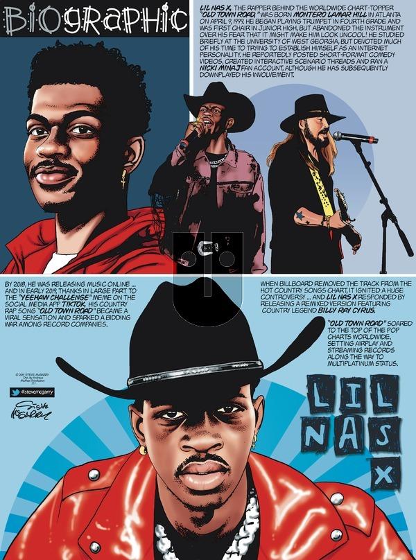 Biographic on Sunday July 7, 2019 Comic Strip