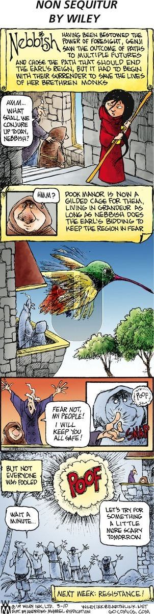 Non Sequitur on Sunday March 10, 2019 Comic Strip