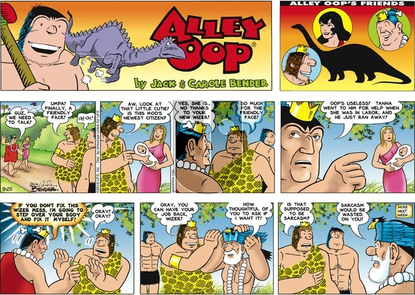 Alley Oop on Sunday September 25, 2016 Comic Strip