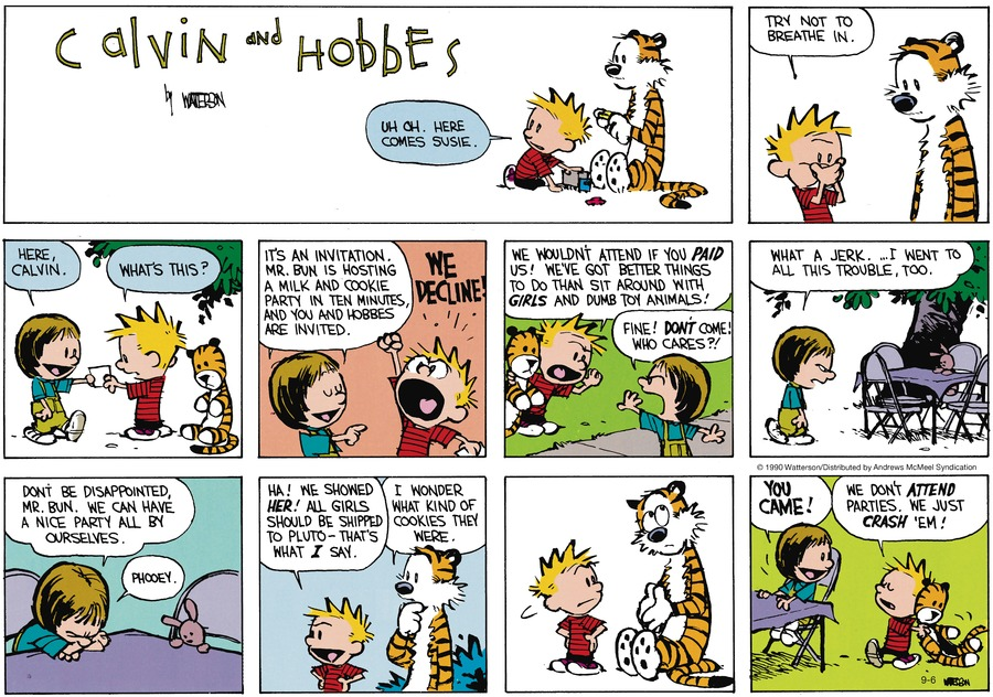 Calvin and Hobbes Comic Strip for September 06, 2020