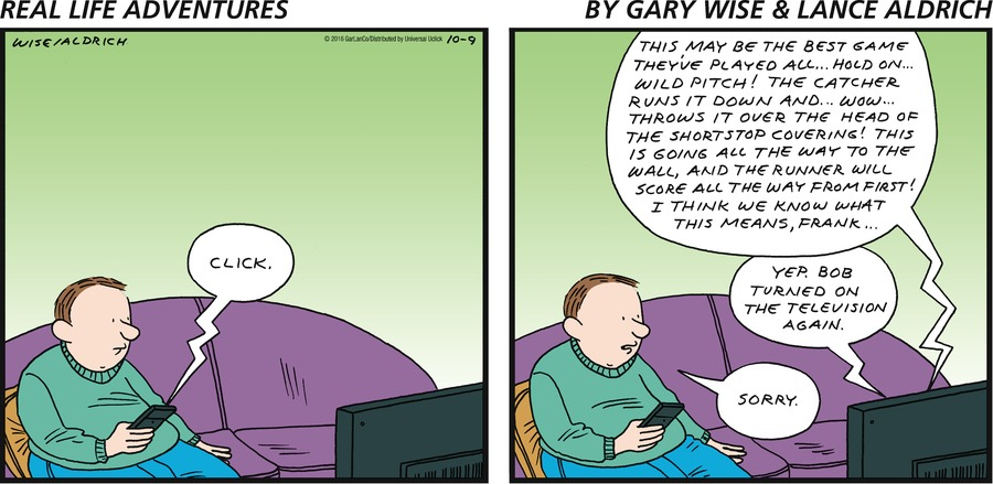 Real Life Adventures for Oct 9, 2016 Comic Strip