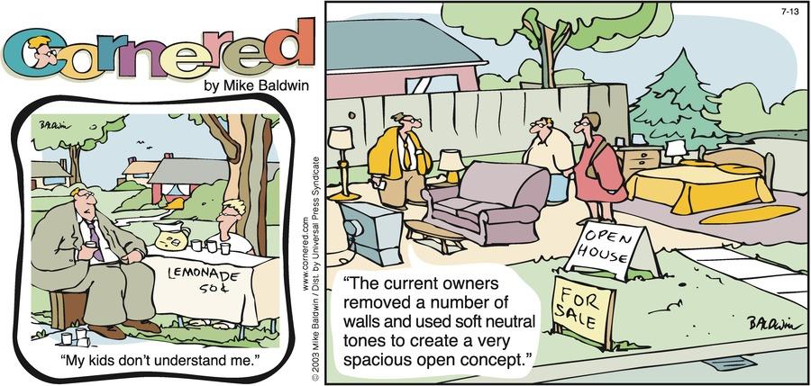 Cornered Comic Strip for July 13, 2003