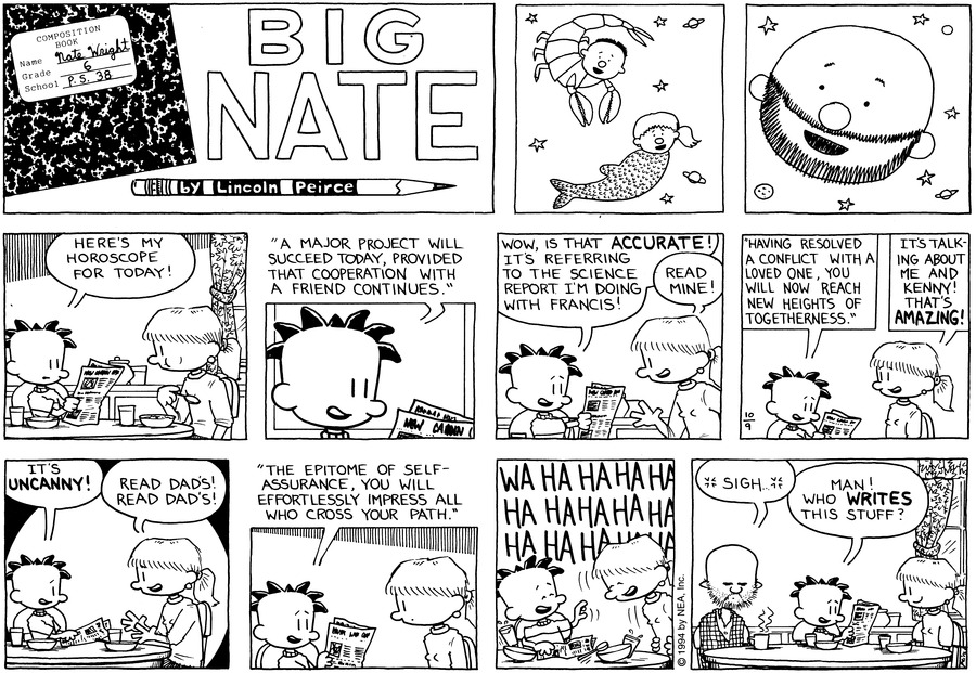Big Nate: First Class Comic Strip for October 20, 2019