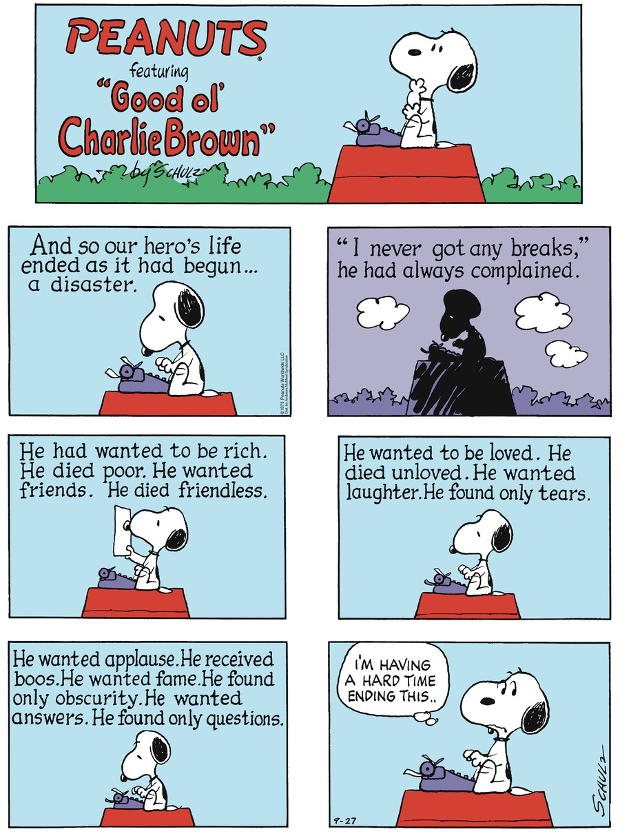 Peanuts Comic Strip for September 27, 2020