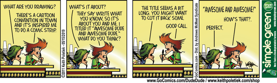 Dude and Dude Comic Strip for May 15, 2019