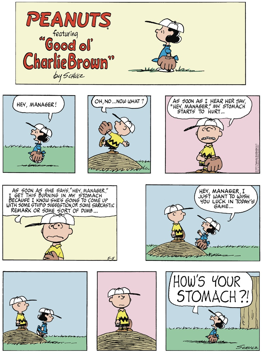 Peanuts by Charles Schulz for May 05, 2019
