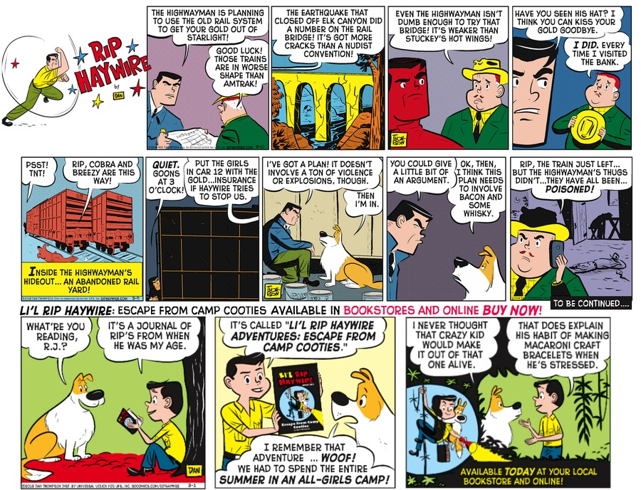 Rip Haywire Comic Strip for August 07, 2016