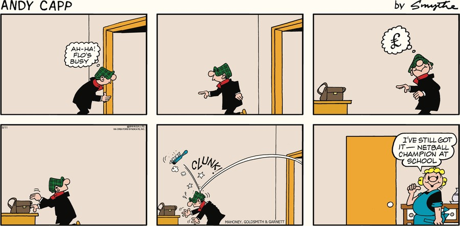 Andy Capp Comic Strip for August 11, 2019