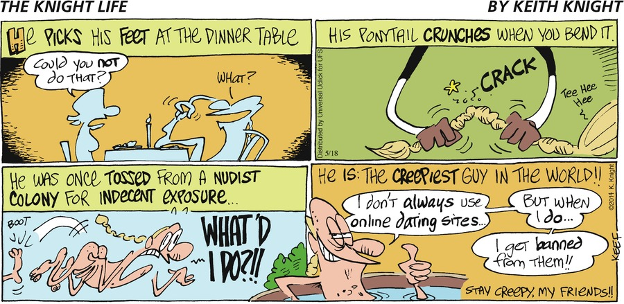 The Knight Life Comic Strip for May 18, 2014