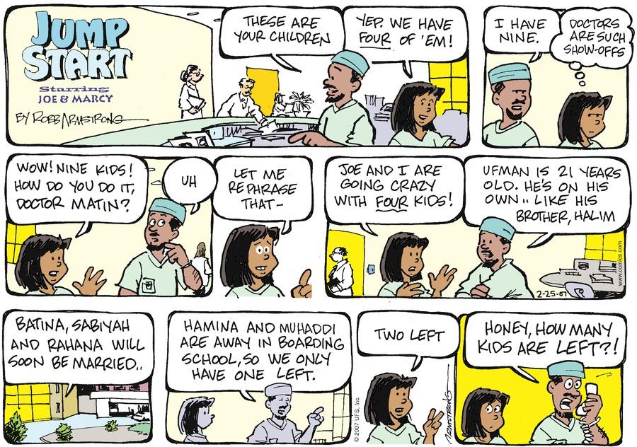 JumpStart for Feb 25, 2007 Comic Strip