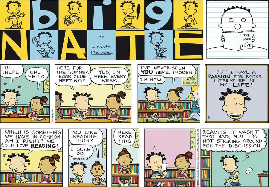Big Nate Comic Strip for August 01, 2021
