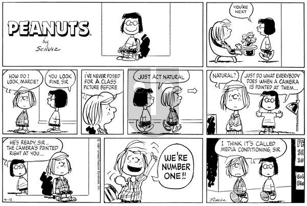 Peanuts on Sunday April 12, 1987 Comic Strip
