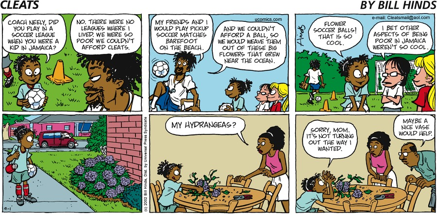 Cleats Comic Strip for September 01, 2002