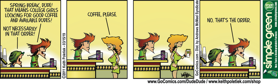 Dude and Dude Comic Strip for March 26, 2019