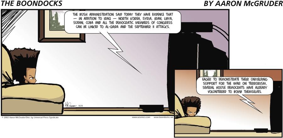 The Boondocks Comic Strip for December 10, 2017