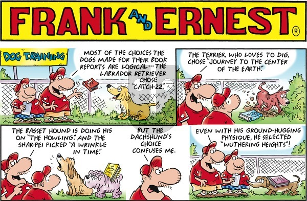 Frank and Ernest on Sunday August 19, 2018 Comic Strip