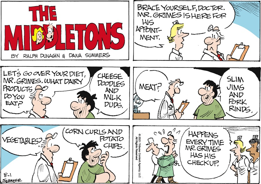 The Middletons Comic Strip for August 01, 2021