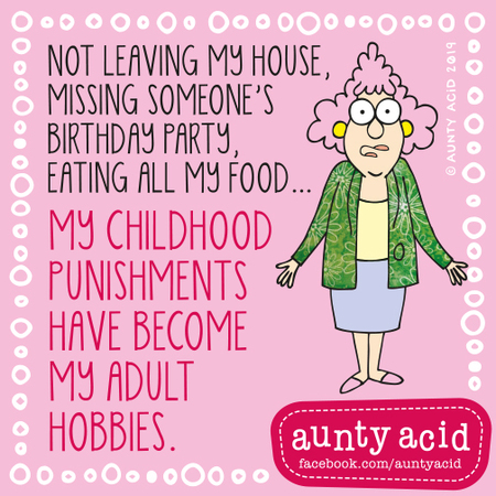 Aunty Acid by Ged Backland for August 16, 2019