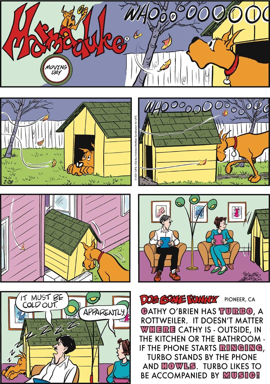 Marmaduke Comic Strip for February 28, 2021