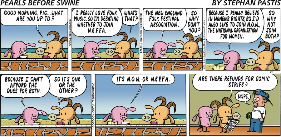 Pearls Before Swine Comic Strip for January 27, 2013