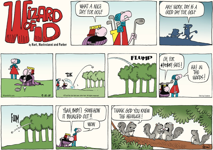 Wizard of Id Comic Strip for September 15, 2019