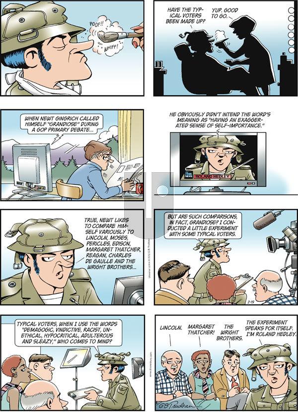 Doonesbury on Sunday February 19, 2012 Comic Strip