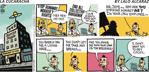 La Cucaracha for Apr 3, 2011 Comic Strip