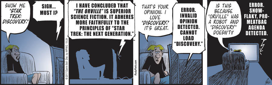 Rudy Park Comic Strip for October 24, 2017