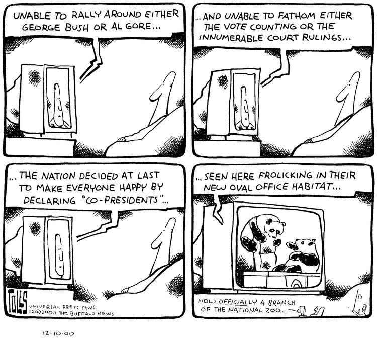 Tom Toles for Dec 10, 2000 Comic Strip