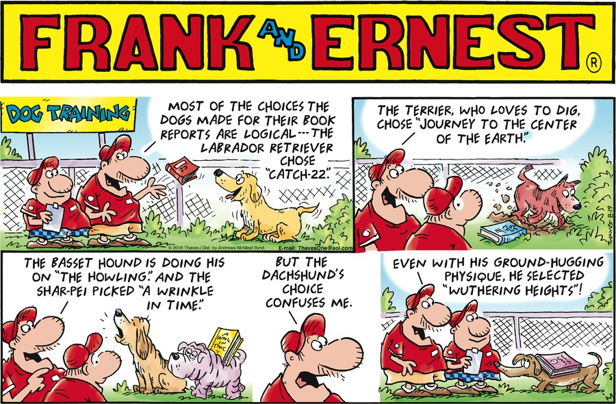 Frank and Ernest Comic Strip for August 19, 2018
