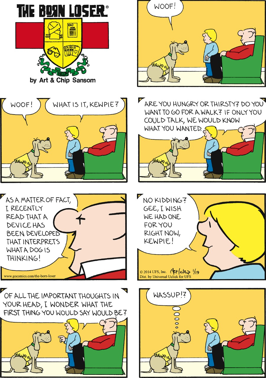 The Born Loser for Jan 19, 2014 Comic Strip