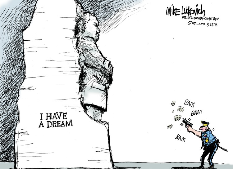 Mike Luckovich for Aug 24, 2014 Comic Strip