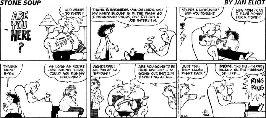 Stone Soup Comic Strip for November 26, 1995